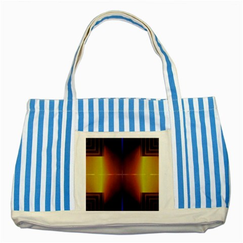 Abstract Painting Striped Blue Tote Bag