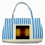 Abstract Painting Striped Blue Tote Bag Front
