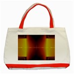 Abstract Painting Classic Tote Bag (Red) Front