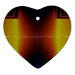 Abstract Painting Heart Ornament (2 Sides) Back