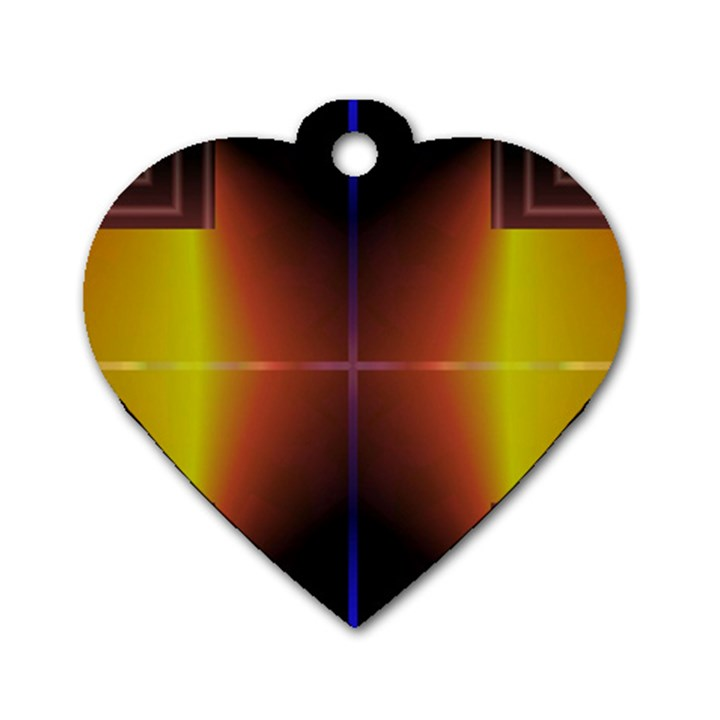 Abstract Painting Dog Tag Heart (One Side)