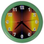 Abstract Painting Color Wall Clocks Front