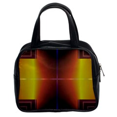 Abstract Painting Classic Handbags (2 Sides)