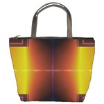 Abstract Painting Bucket Bags Front