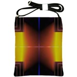 Abstract Painting Shoulder Sling Bags Front