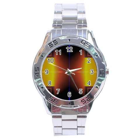 Abstract Painting Stainless Steel Analogue Watch