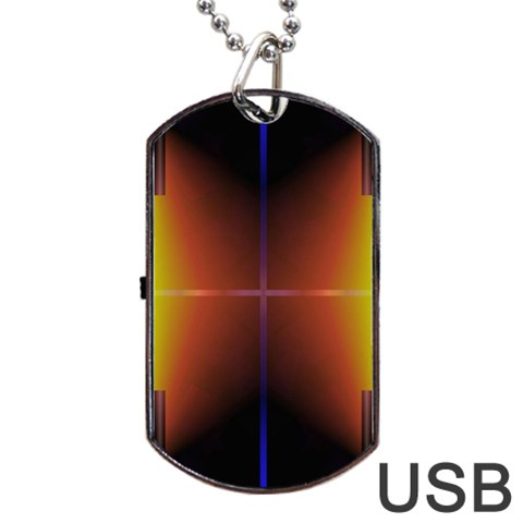 Abstract Painting Dog Tag USB Flash (One Side)