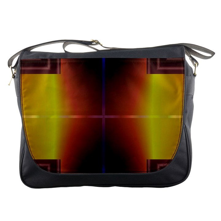 Abstract Painting Messenger Bags