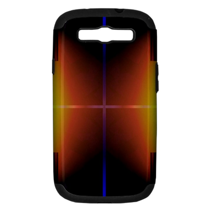 Abstract Painting Samsung Galaxy S III Hardshell Case (PC+Silicone)