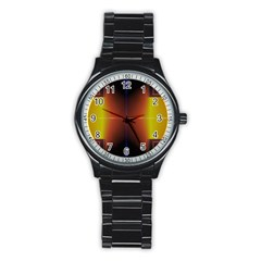 Abstract Painting Stainless Steel Round Watch