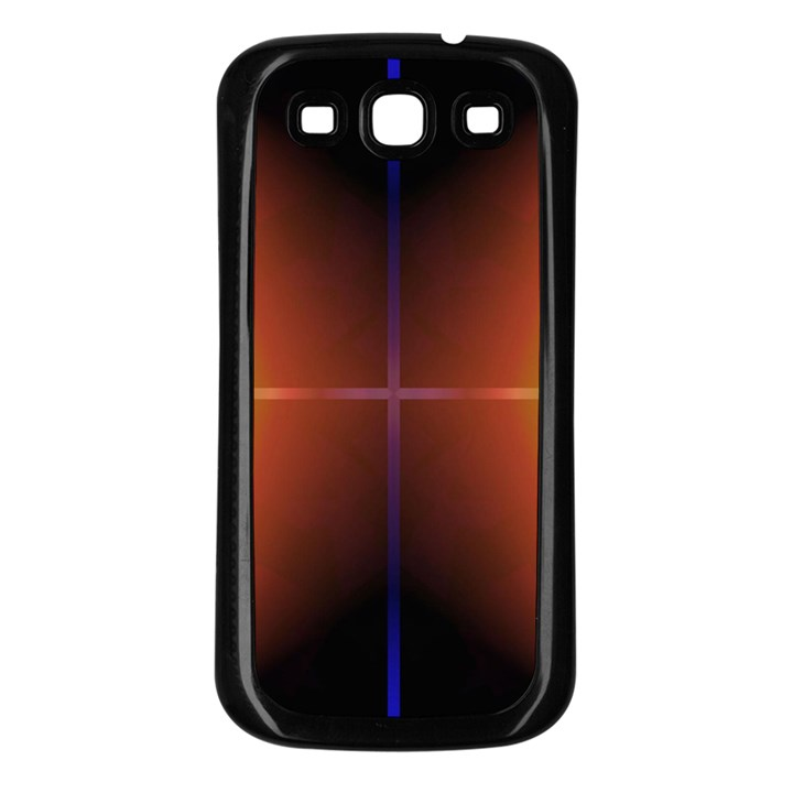Abstract Painting Samsung Galaxy S3 Back Case (Black)