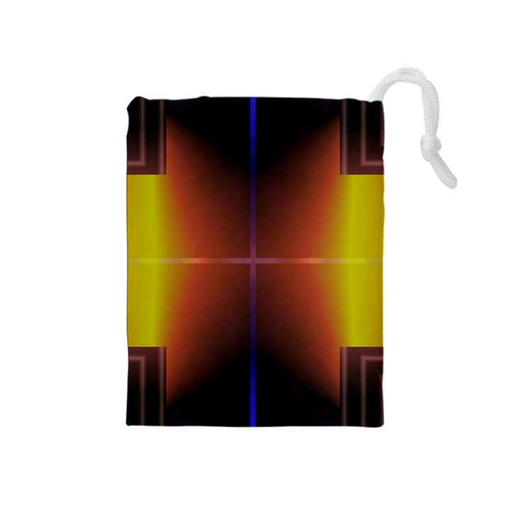 Abstract Painting Drawstring Pouches (Medium)