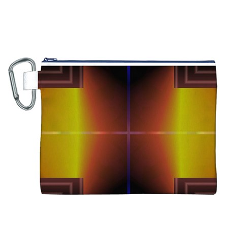 Abstract Painting Canvas Cosmetic Bag (L)