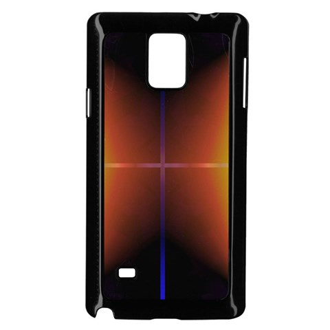 Abstract Painting Samsung Galaxy Note 4 Case (Black)