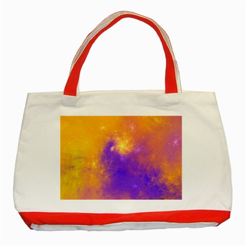 Colorful Universe Classic Tote Bag (Red)