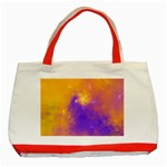 Colorful Universe Classic Tote Bag (Red) Front