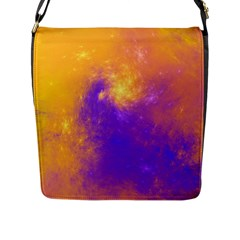 Colorful Universe Flap Messenger Bag (l)