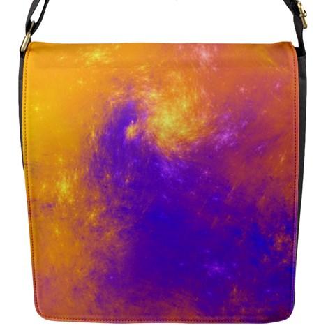 Colorful Universe Flap Messenger Bag (S)