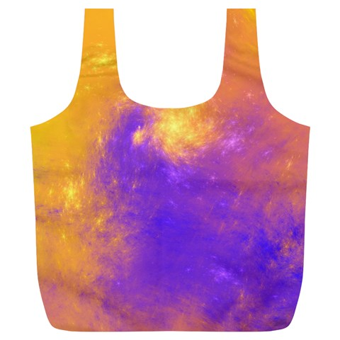 Colorful Universe Full Print Recycle Bags (L)