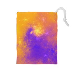 Colorful Universe Drawstring Pouches (Large)