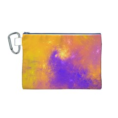 Colorful Universe Canvas Cosmetic Bag (m)