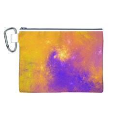 Colorful Universe Canvas Cosmetic Bag (l)