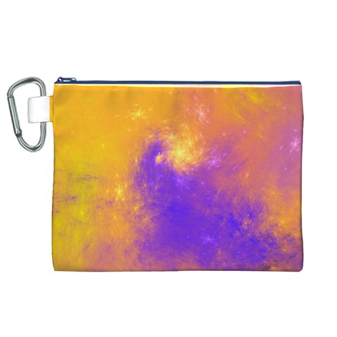 Colorful Universe Canvas Cosmetic Bag (XL)