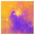 Colorful Universe Large Satin Scarf (Square) Front
