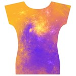 Colorful Universe Women s V-Neck Cap Sleeve Top Back