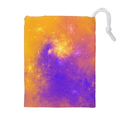 Colorful Universe Drawstring Pouches (Extra Large)