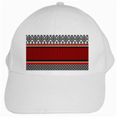 Background Damask Red Black White Cap