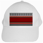 Background Damask Red Black White Cap Front