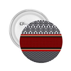 Background Damask Red Black 2.25  Buttons