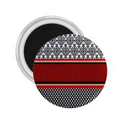 Background Damask Red Black 2.25  Magnets