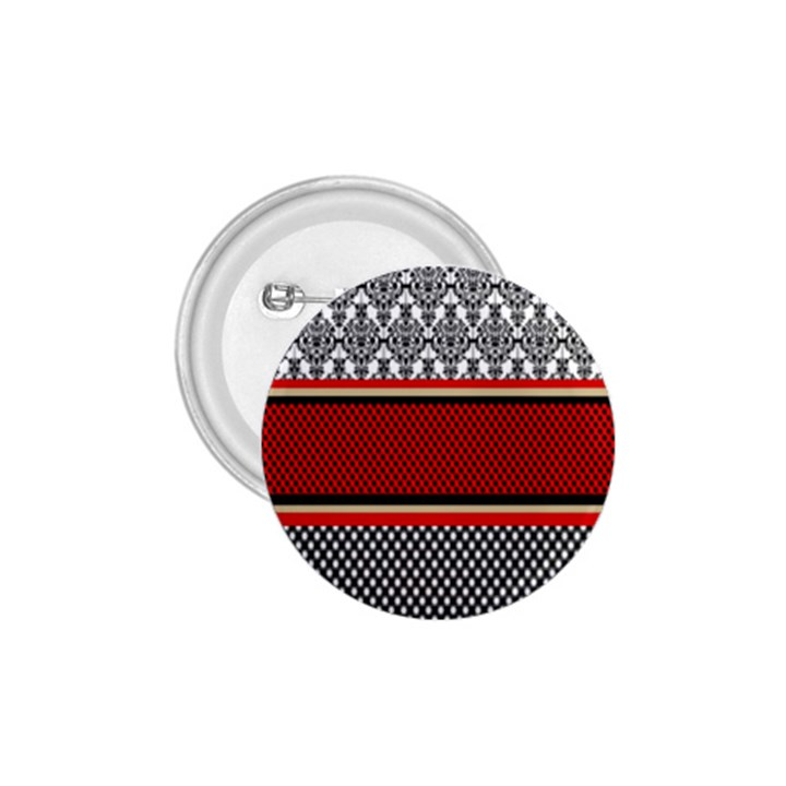 Background Damask Red Black 1.75  Buttons