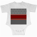 Background Damask Red Black Infant Creepers Front