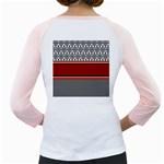 Background Damask Red Black Girly Raglans Back