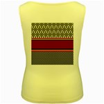 Background Damask Red Black Women s Yellow Tank Top Back