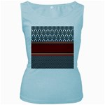 Background Damask Red Black Women s Baby Blue Tank Top Front
