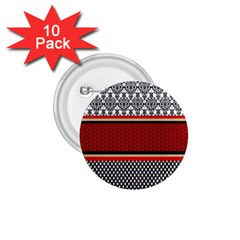 Background Damask Red Black 1.75  Buttons (10 pack)
