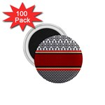 Background Damask Red Black 1.75  Magnets (100 pack)  Front