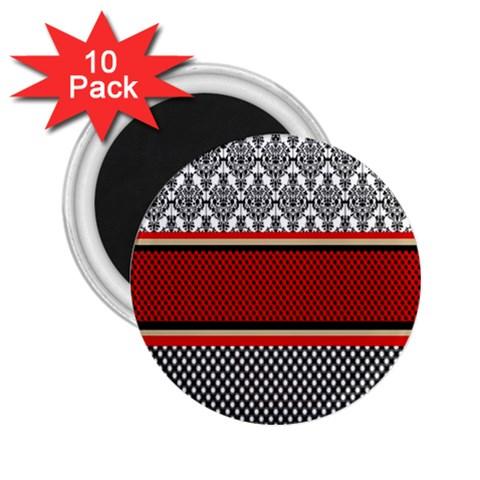 Background Damask Red Black 2.25  Magnets (10 pack)