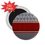 Background Damask Red Black 2.25  Magnets (100 pack)  Front