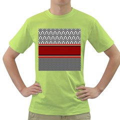 Background Damask Red Black Green T-Shirt