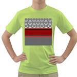 Background Damask Red Black Green T-Shirt Front