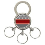 Background Damask Red Black 3-Ring Key Chains Front