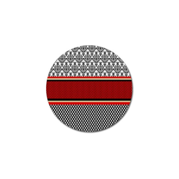 Background Damask Red Black Golf Ball Marker