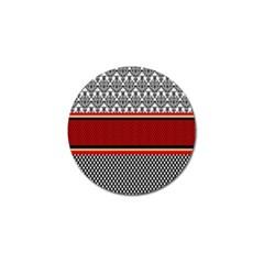 Background Damask Red Black Golf Ball Marker (4 pack)