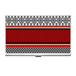 Background Damask Red Black Business Card Holders Front