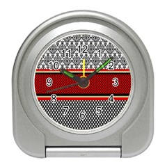 Background Damask Red Black Travel Alarm Clocks